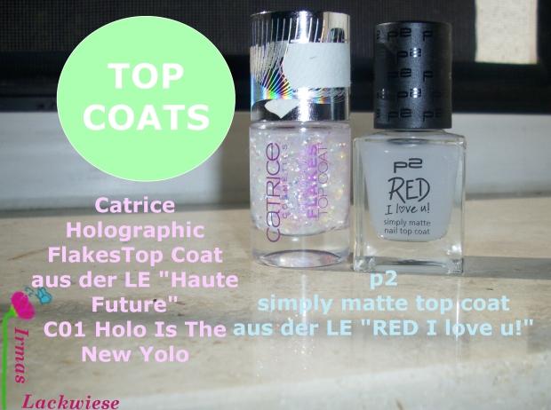 matte Pastellmischung Top Coats