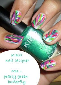 Inverse - KIKO pearly green butterfly