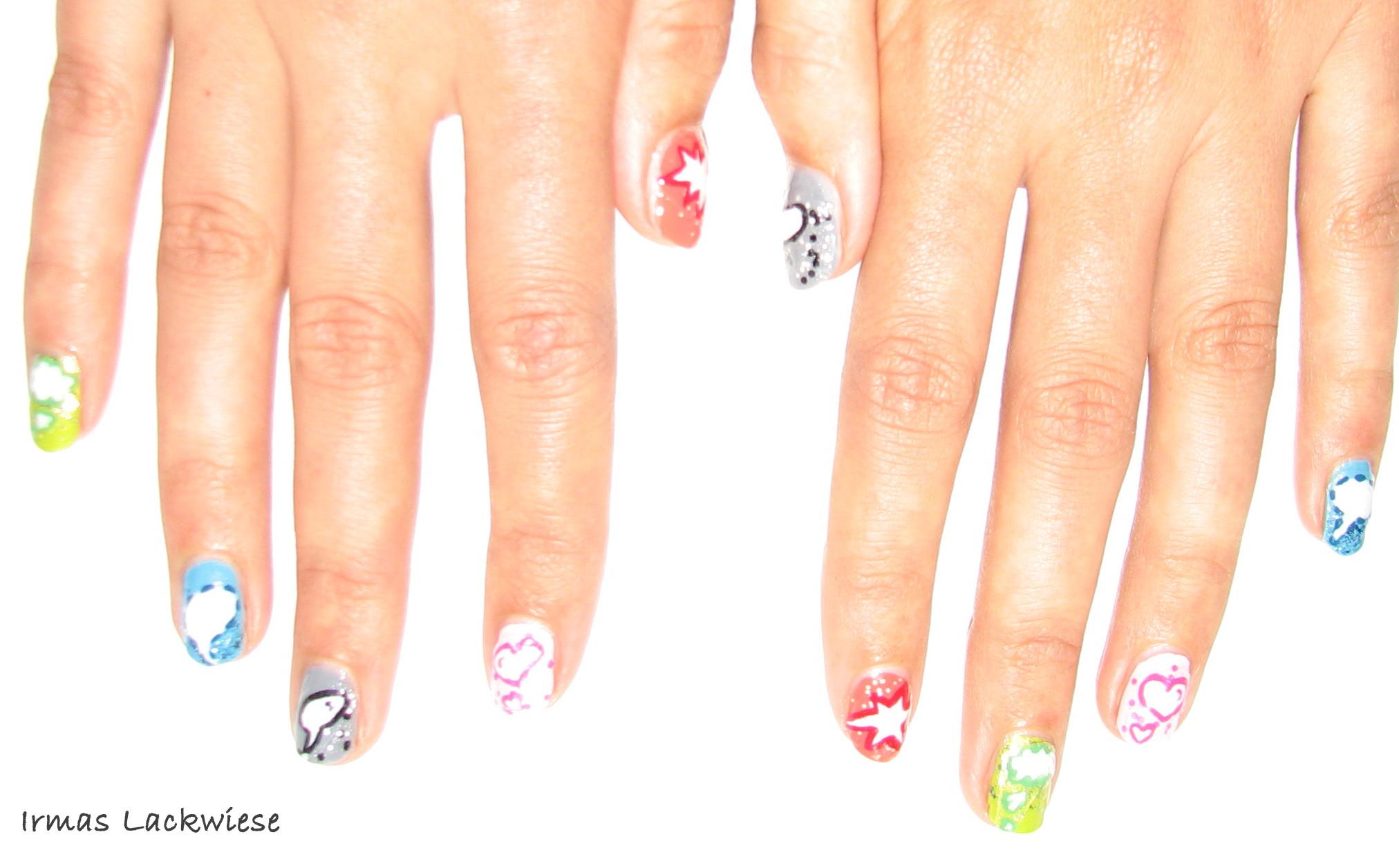 Comicnägel + DIY Nail Sticker – Irmas Lackwiese