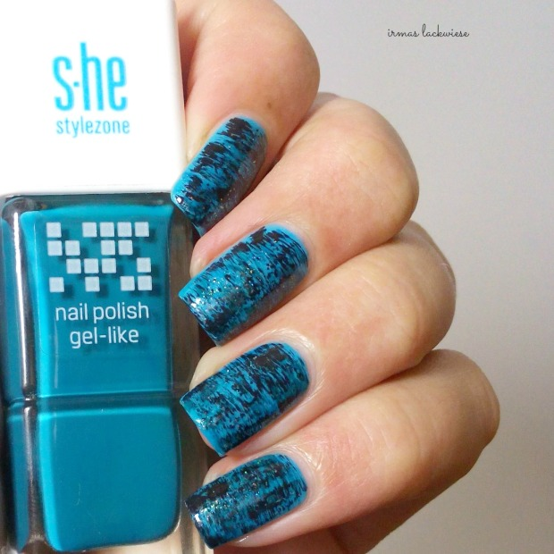 distressed nails - blue teal (16)