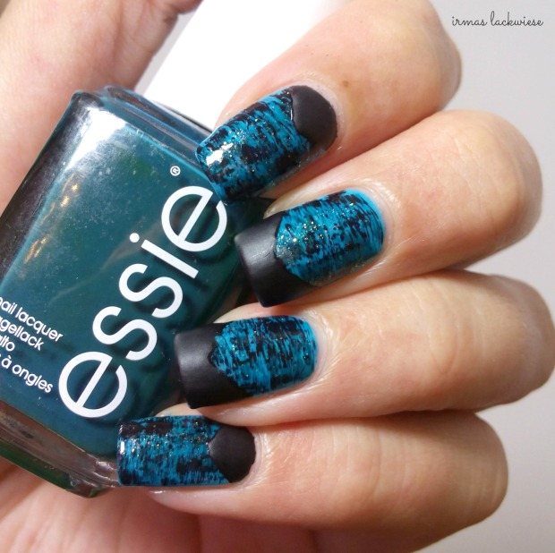 distressed nails - blue teal (52)