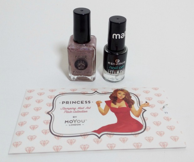 bear pawlish - baby bears breath (11) + stamping moyou princess 11