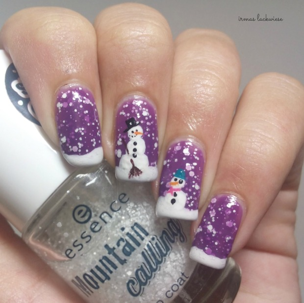 2. nailart snowman mit p2 winter who cares - never mind (2)