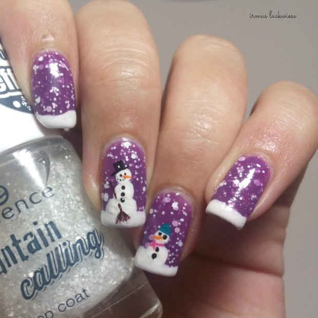 2. nailart snowman mit p2 winter who cares - never mind (3)