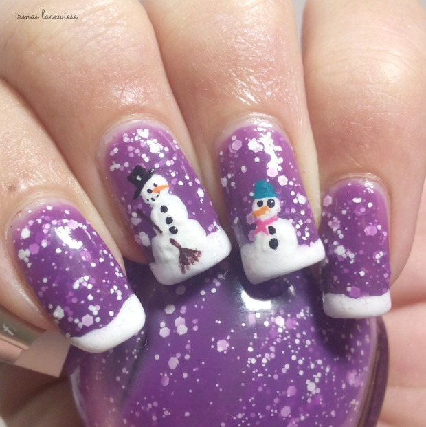 2. nailart snowman mit p2 winter who cares - never mind (4)