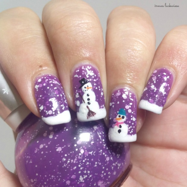 2. nailart snowman mit p2 winter who cares - never mind (5)