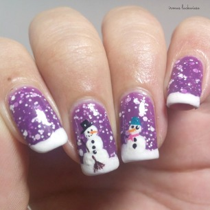 2. nailart snowman mit p2 winter who cares - never mind (6)