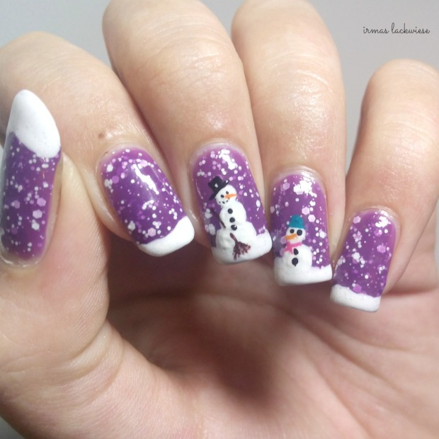 2. nailart snowman mit p2 winter who cares - never mind (7)