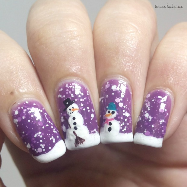2. nailart snowman mit p2 winter who cares - never mind (8)