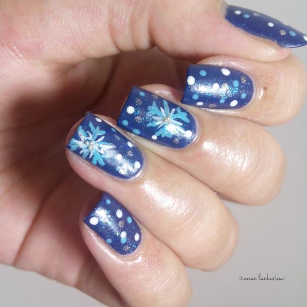 nailart blue snowflakes arabesque kobalt blue (10)