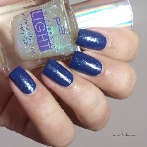 nailart blue snowflakes arabesque kobalt blue (5)
