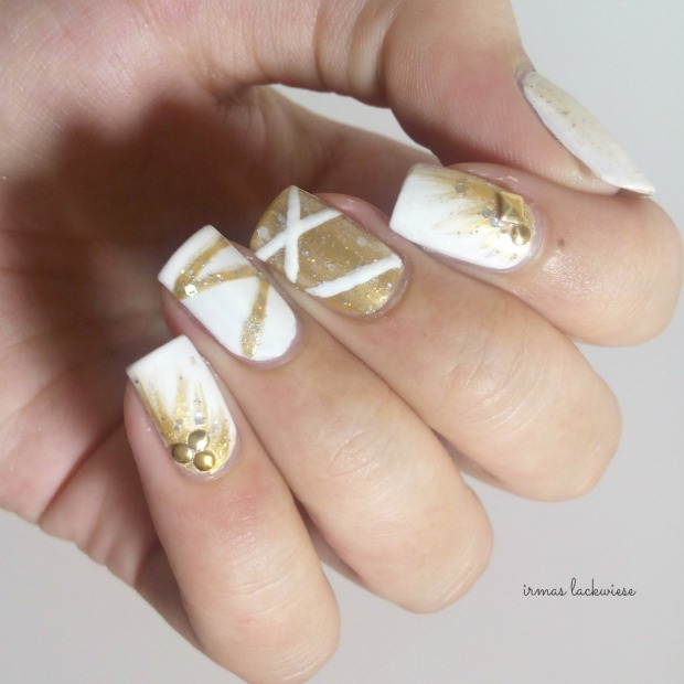 nailart silvester new years eve white and gold (3)
