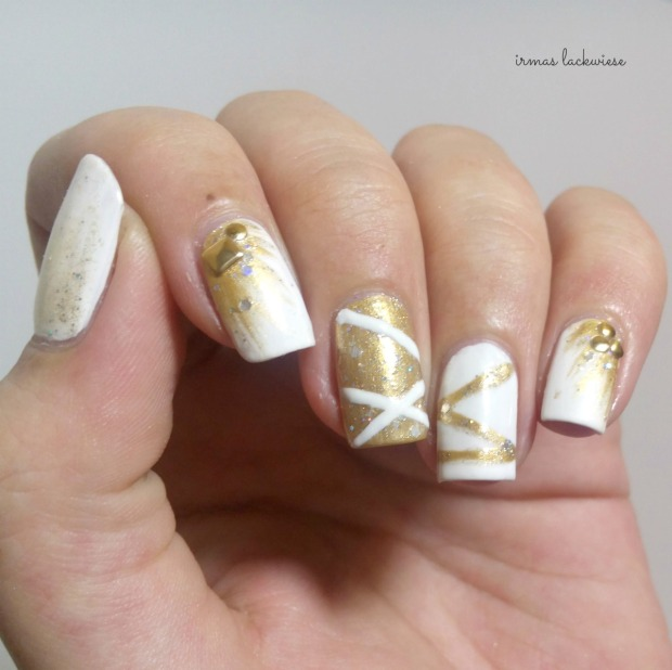 nailart silvester new years eve white and gold (4)
