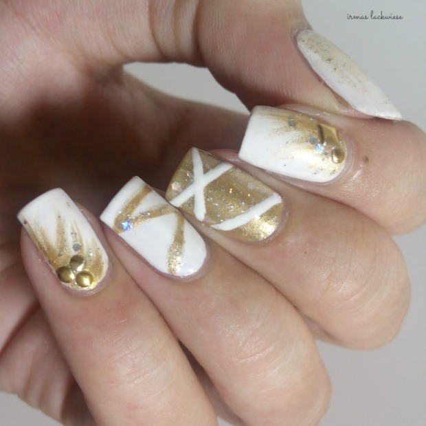 nailart silvester new years eve white and gold (5)