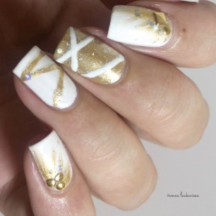 nailart silvester new years eve white and gold (6)