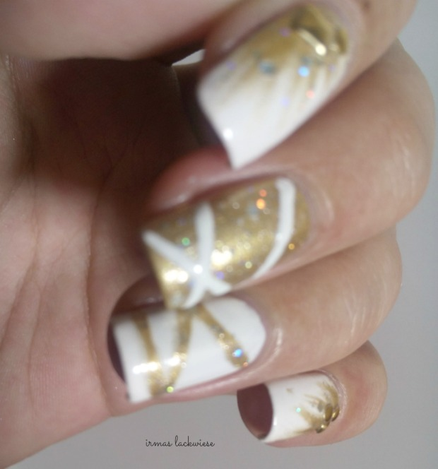 nailart silvester new years eve white and gold (7)