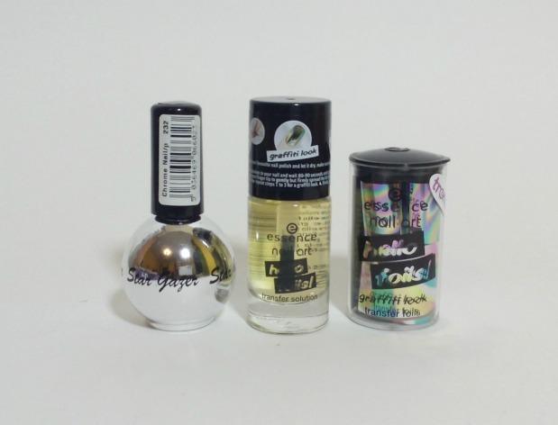 stargazer metal & chrome silver (5) + essence hello foils