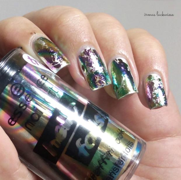 stargazer metal & chrome silver (7) + essence hello foils