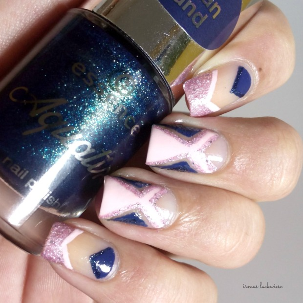 negative space - cut out nail art pink and blue (3)