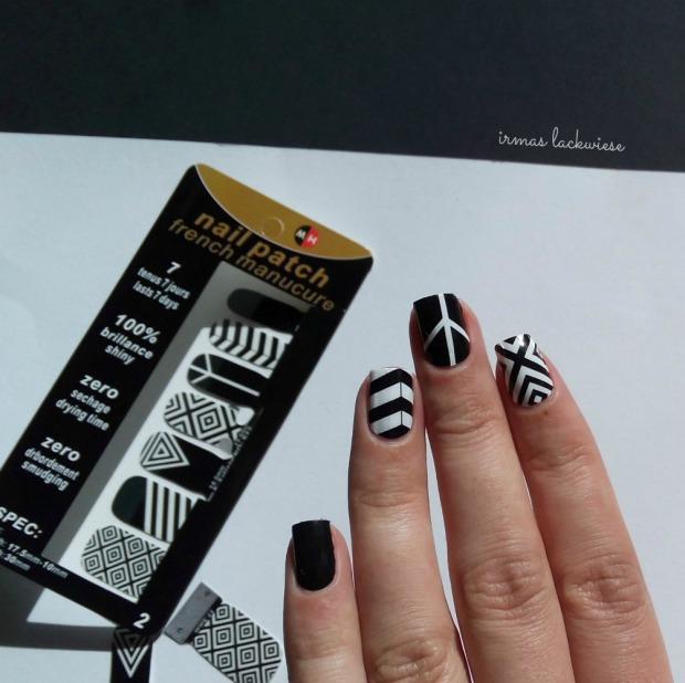 black and white nail wraps (2)