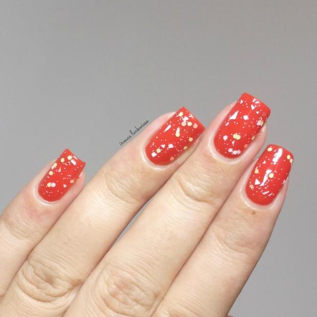 maybelline orange attack + p2 cassis passion dots(7)