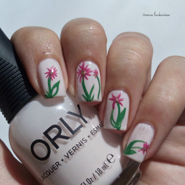 orly powder puff + flower nailart (3)