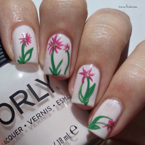 orly powder puff + flower nailart (4)
