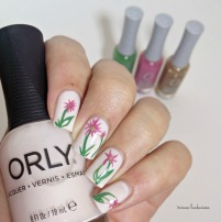 orly powder puff + flower nailart (5)