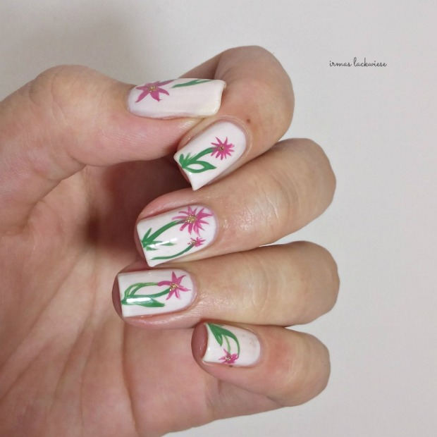 orly powder puff + flower nailart (6)