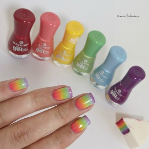 rainbow gradient nails (2)