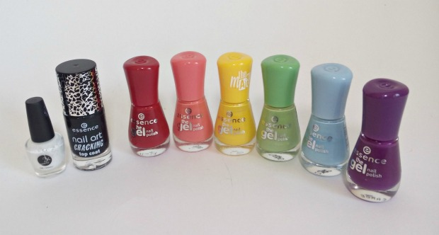 rainbow gradient nails + essence black crackle finish top coat (6)