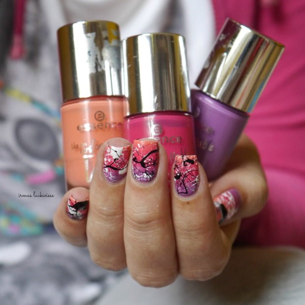 essence nothing but lovestoned + gradient + splatter nails(11)