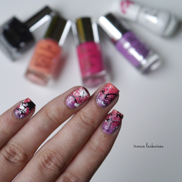 essence nothing but lovestoned + gradient + splatter nails(13)