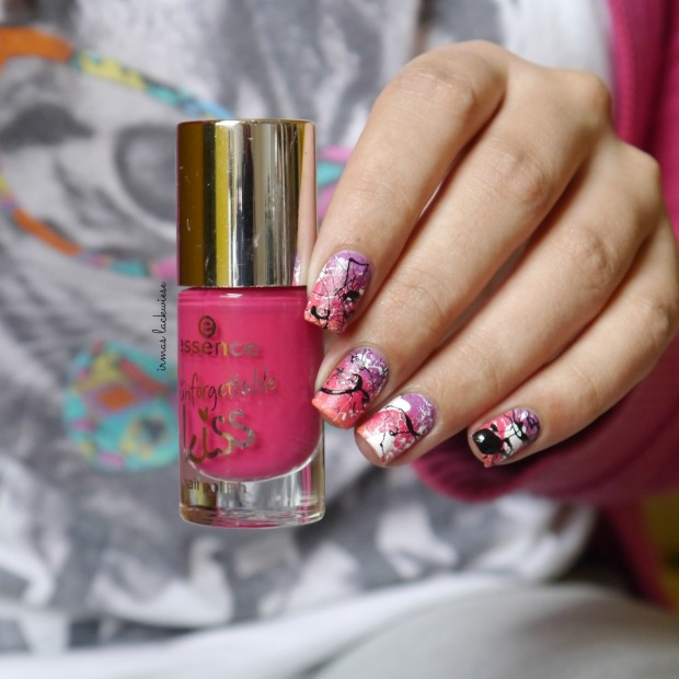 essence nothing but lovestoned + gradient + splatter nails(7)