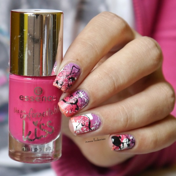 essence nothing but lovestoned + gradient + splatter nails(8)