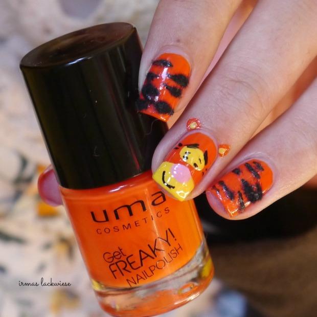 uma freaky orange + tigger nailart - winnieh pooh(7)