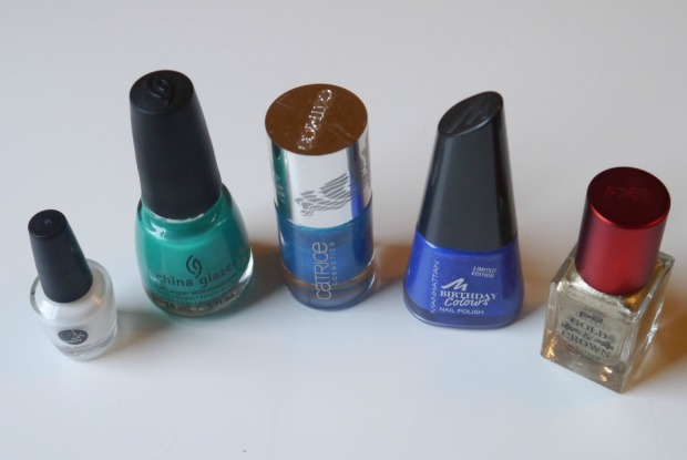 china glaze keepin it teal + sugar spun nailart (11)