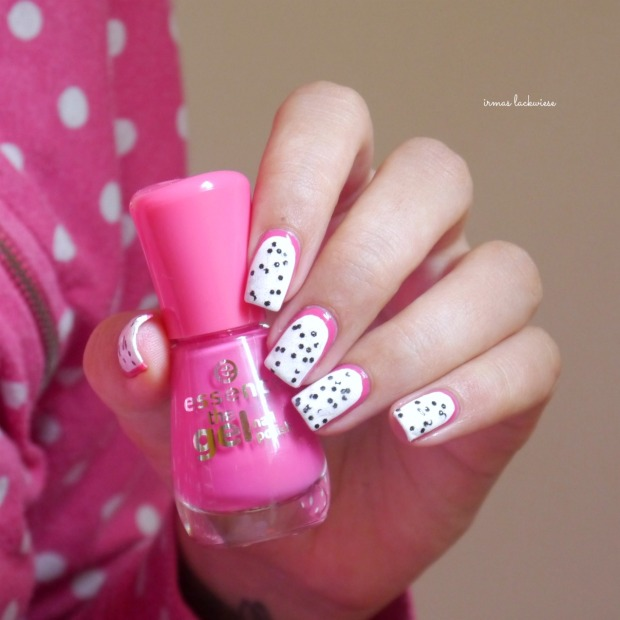 essence #lucky + dragonfruit nailart(12)
