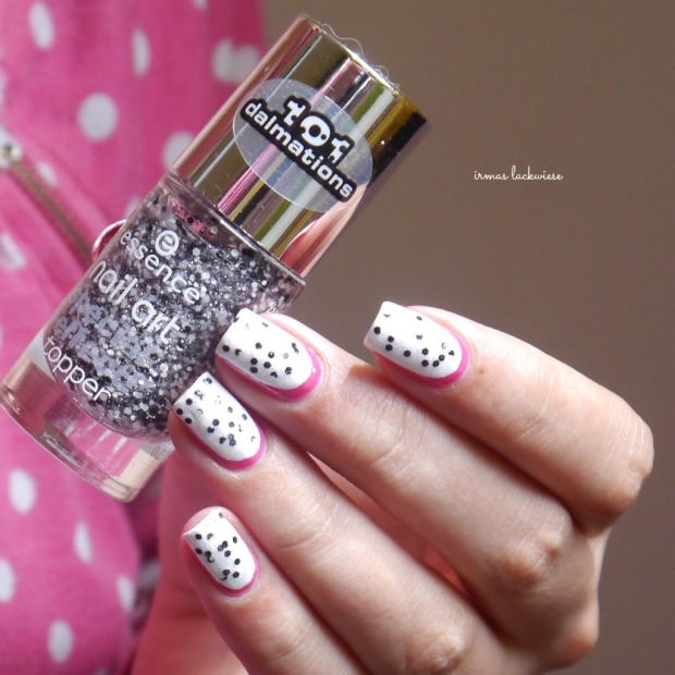 essence #lucky + dragonfruit nailart(6)