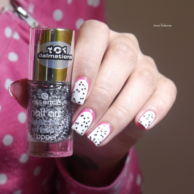 essence #lucky + dragonfruit nailart(7)