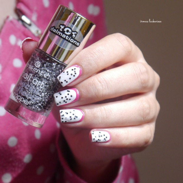 essence #lucky + dragonfruit nailart(8)