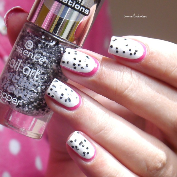 essence #lucky + dragonfruit nailart(9)