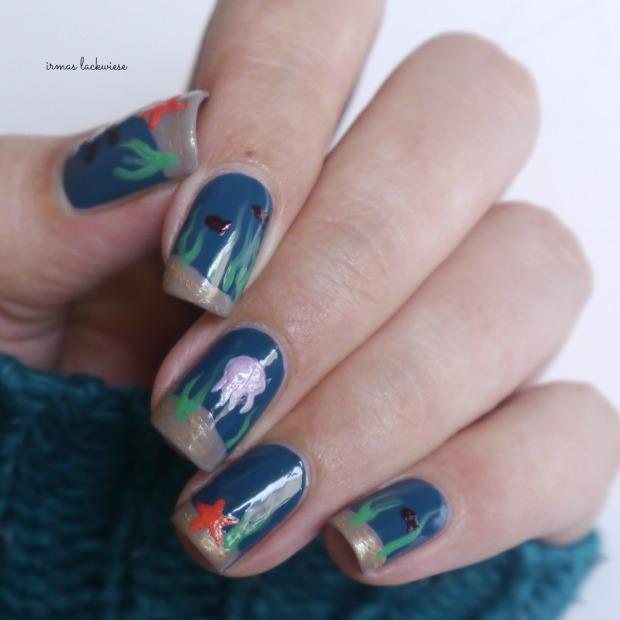 essie go overboard + underwater nails(12)