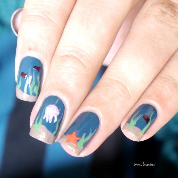 essie go overboard + underwater nails(8)