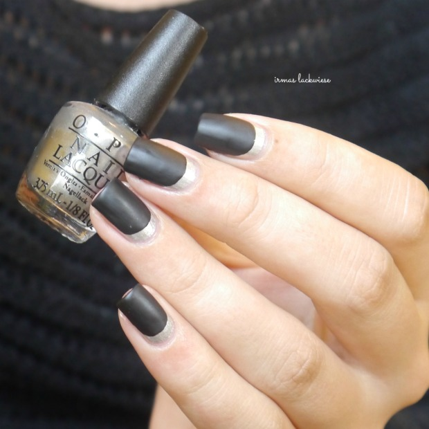 opi my silk tie + black & silver ruffian nails (12)