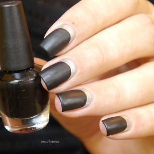 opi my silk tie + black & silver ruffian nails (13)
