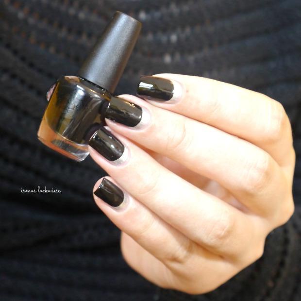 opi my silk tie + black & silver ruffian nails (6)