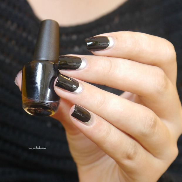 opi my silk tie + black & silver ruffian nails (7)