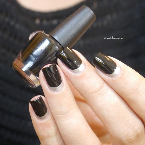 opi my silk tie + black & silver ruffian nails (8)