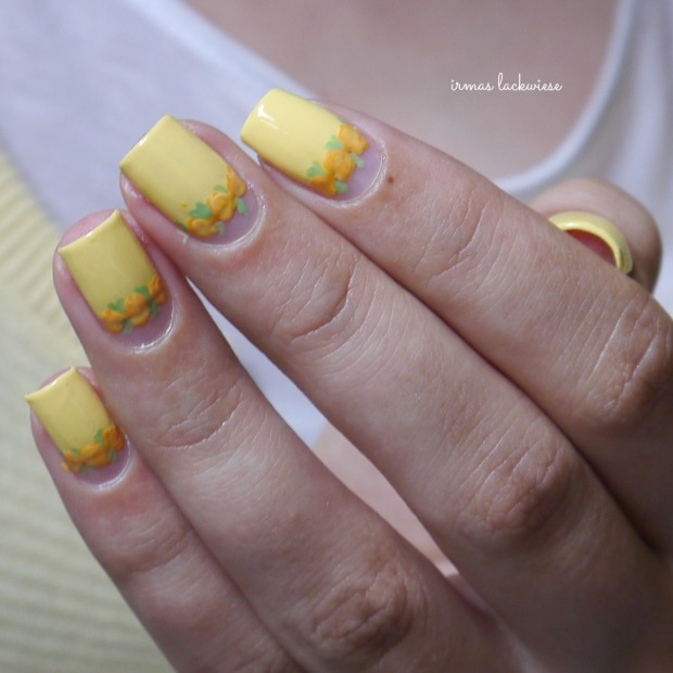 yellow roses nailart (13)